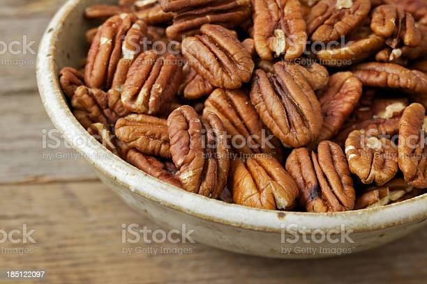 Bowl of pecan nuts on old wood table picture id185122097?b=1&k=6&m=185122097&s=612x612&h=4qhoeaffpb093igf5fqdxqcfbyh2 2pxydrlm myy8y=