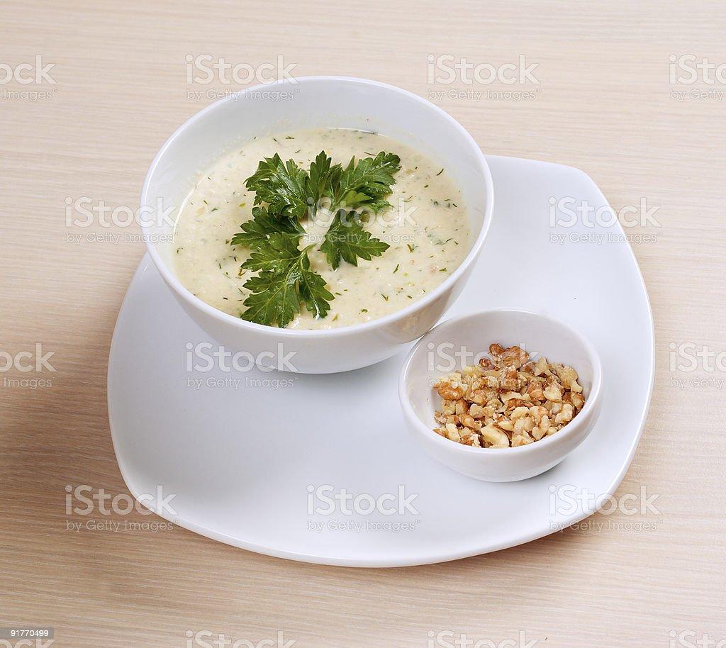 Bowl of porridge royalty-free stock photo