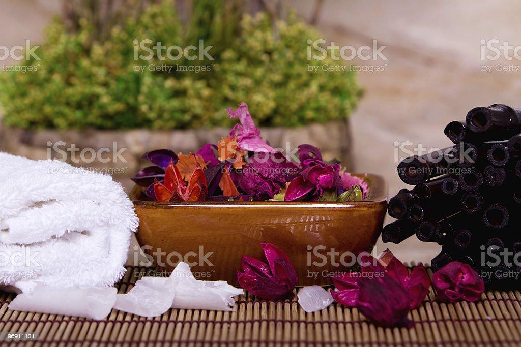 Bowl of potpourri royalty-free stock photo