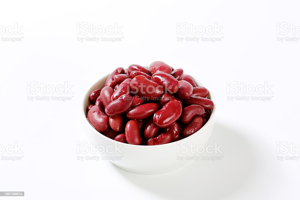 bowl of red beans stock photo