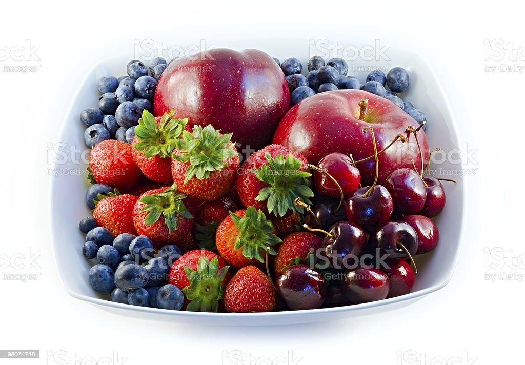 Ciotola di frutta rossa foto stock royalty-free