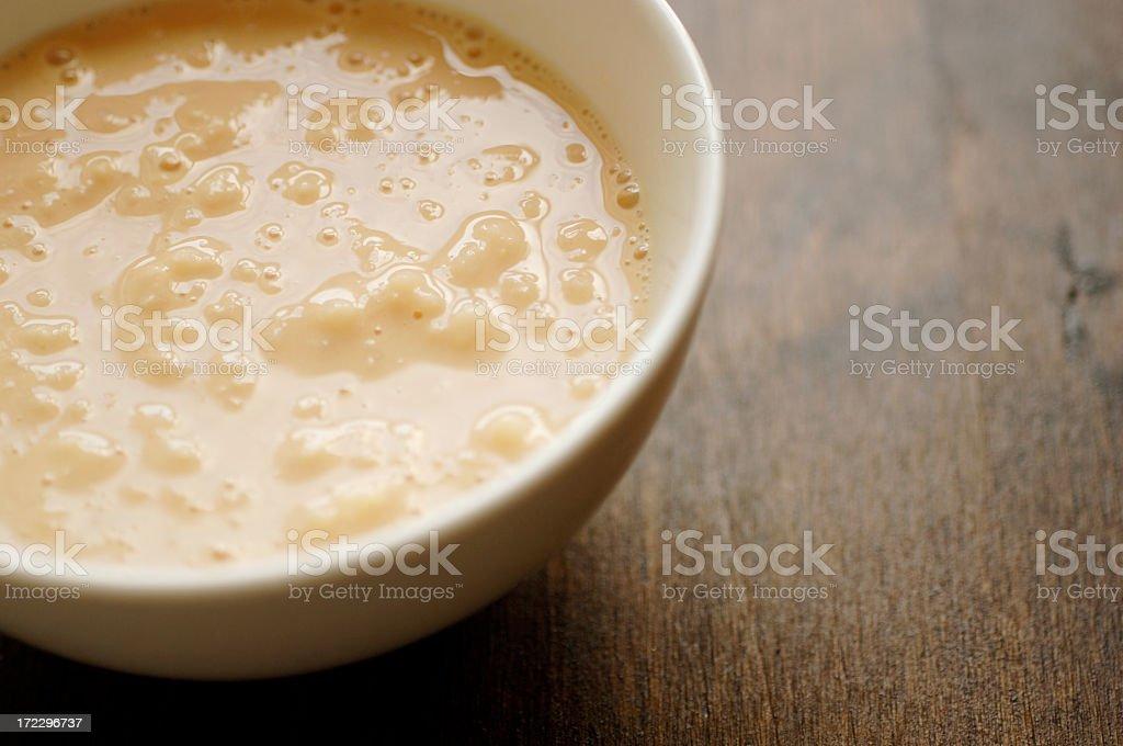 Tigela de pudim de arroz - foto de acervo