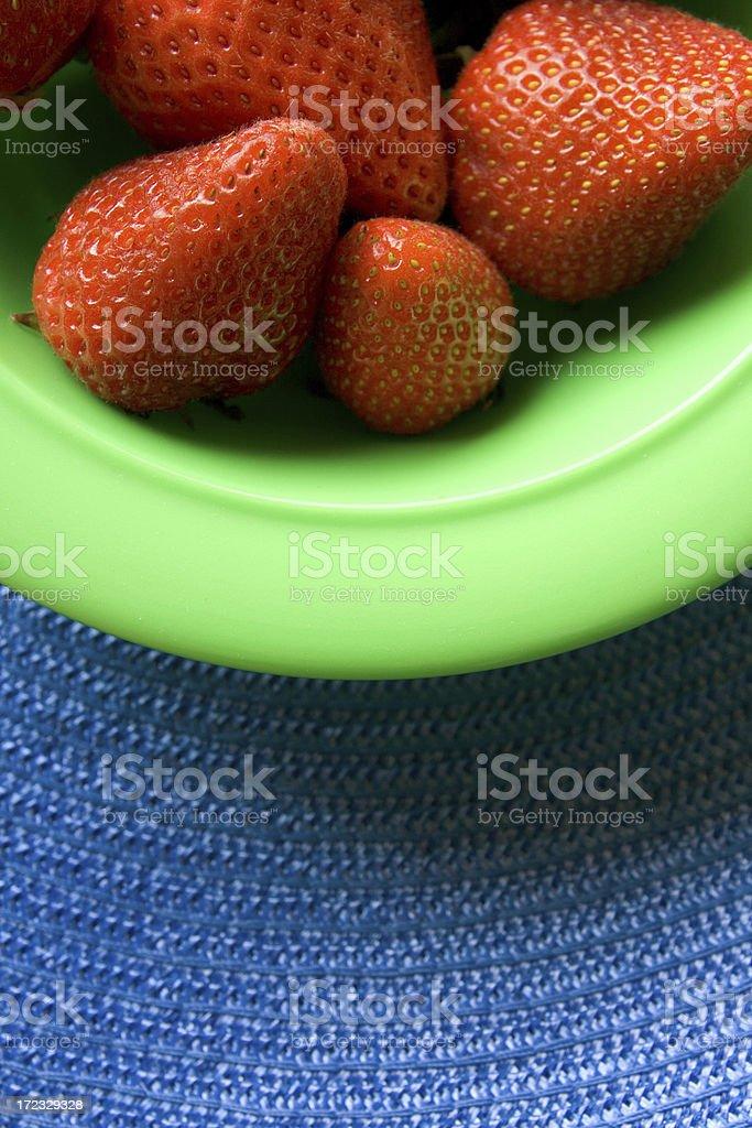 Bowl of ripe Strawberries stock photo