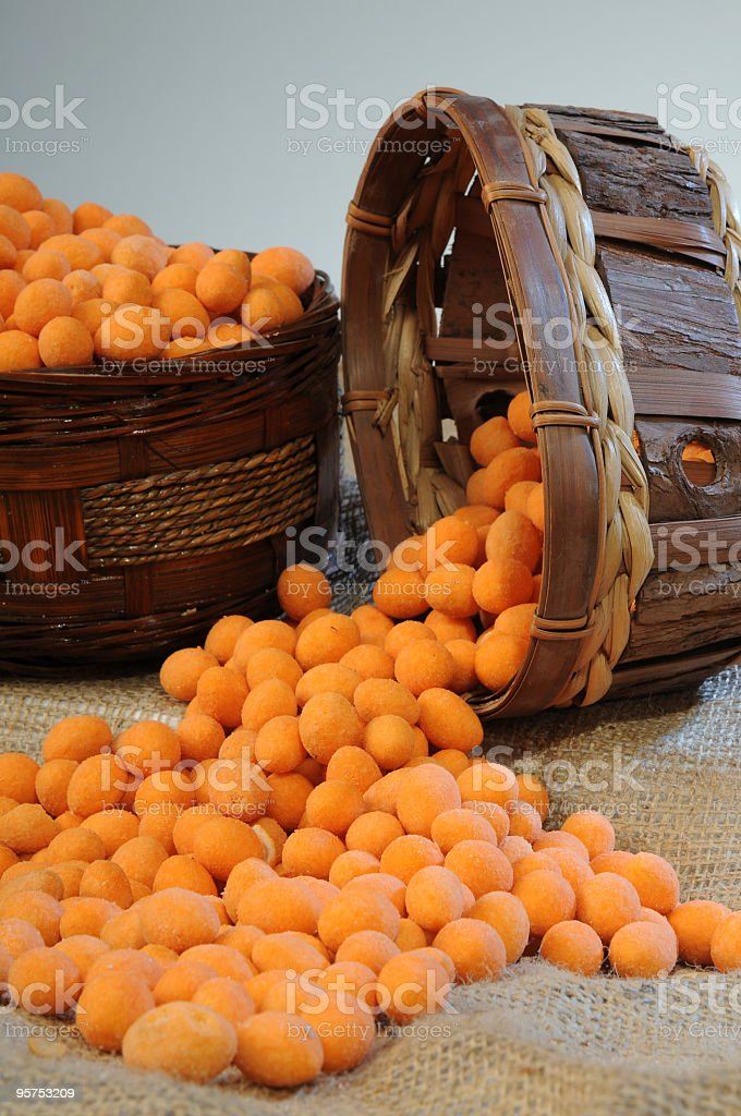 Bowl of Roasted Chickpeas and Soy Bean royalty-free stock photo
