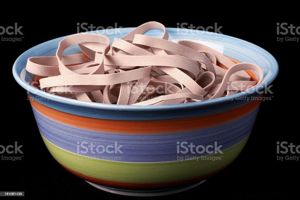 Bowl of Rubber Bands royalty-free stock photo