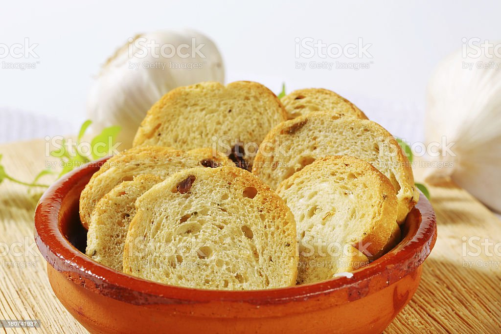 bowl of rusks royalty-free stock photo