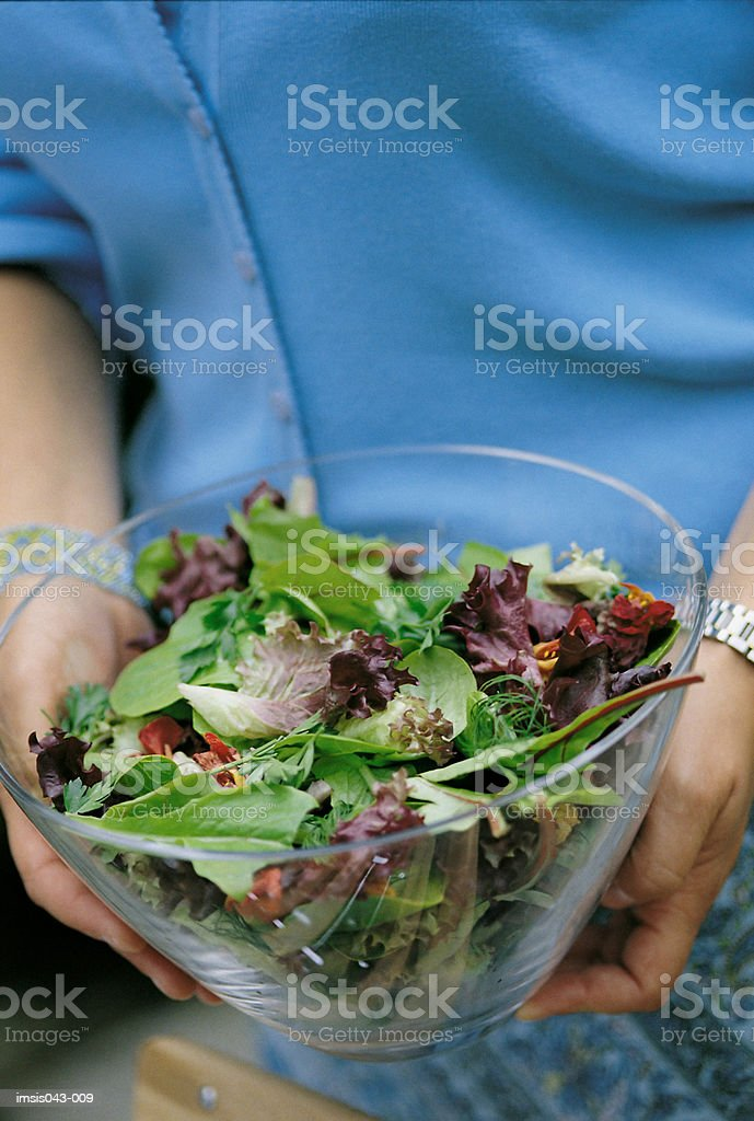 Bowl of salad royalty-free stock photo