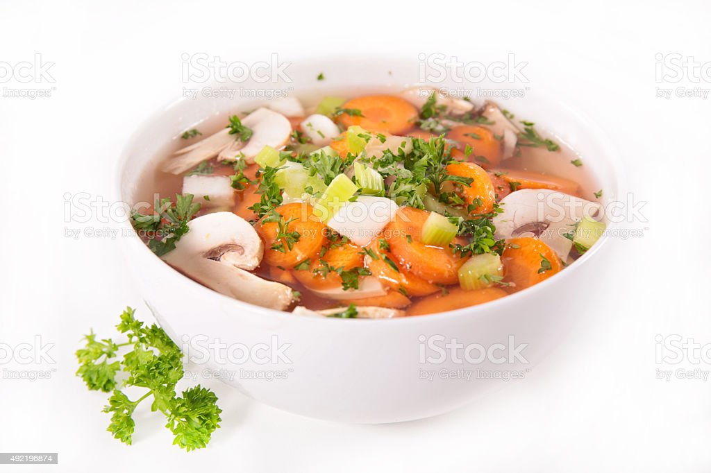 bowl of soup stock photo