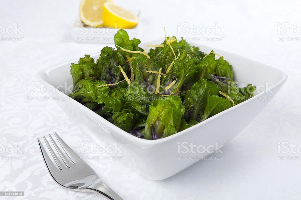 Bowl of Sprouts with lemon zest royalty-free stock photo