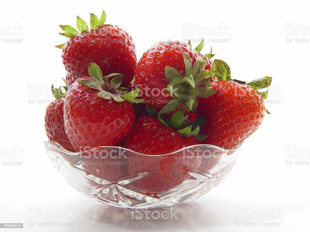 Bowl of strawberries I royalty-free stock photo