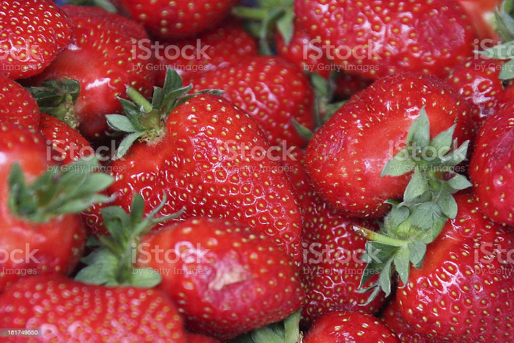 Bowl of strawberries royalty-free stock photo