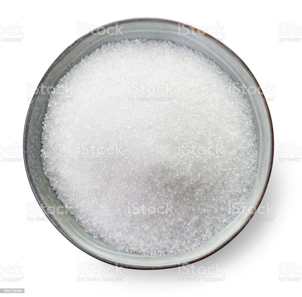 Bowl of sugar stock photo