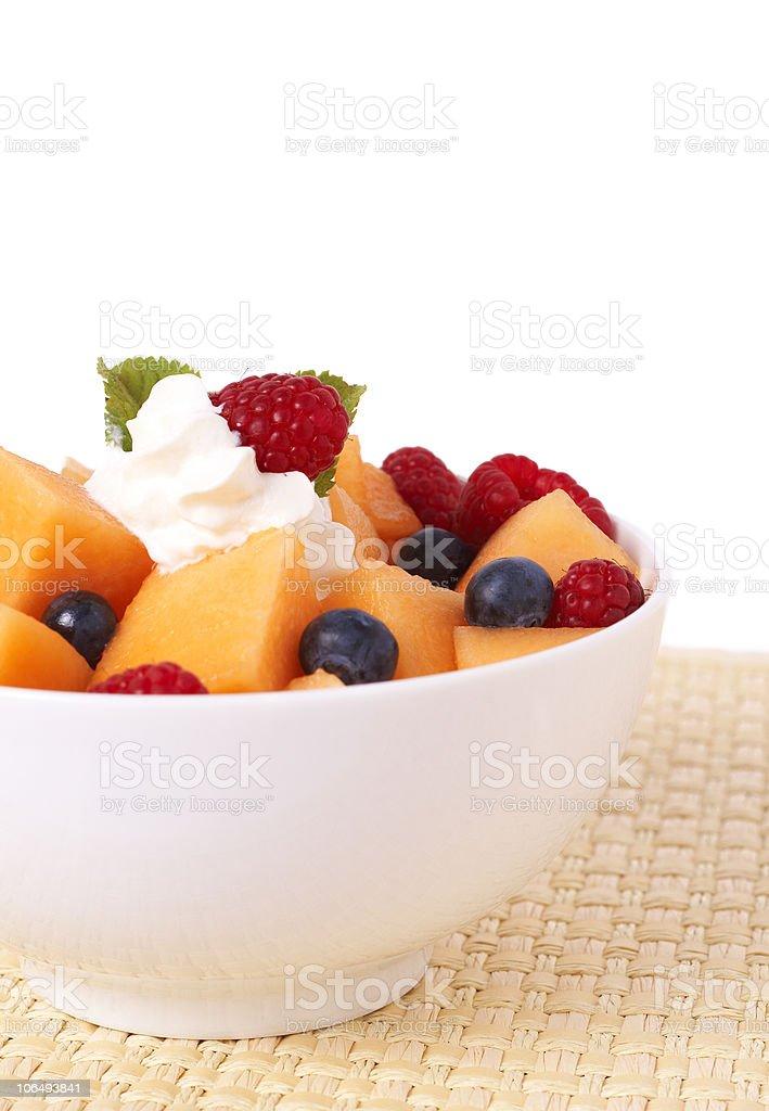 Bowl of summer fruit salad royalty-free stock photo