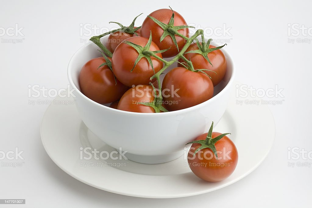 Bowl of tomatoes royalty-free stock photo
