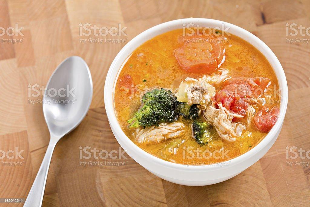Bowl Of Turkey Soup royalty-free stock photo