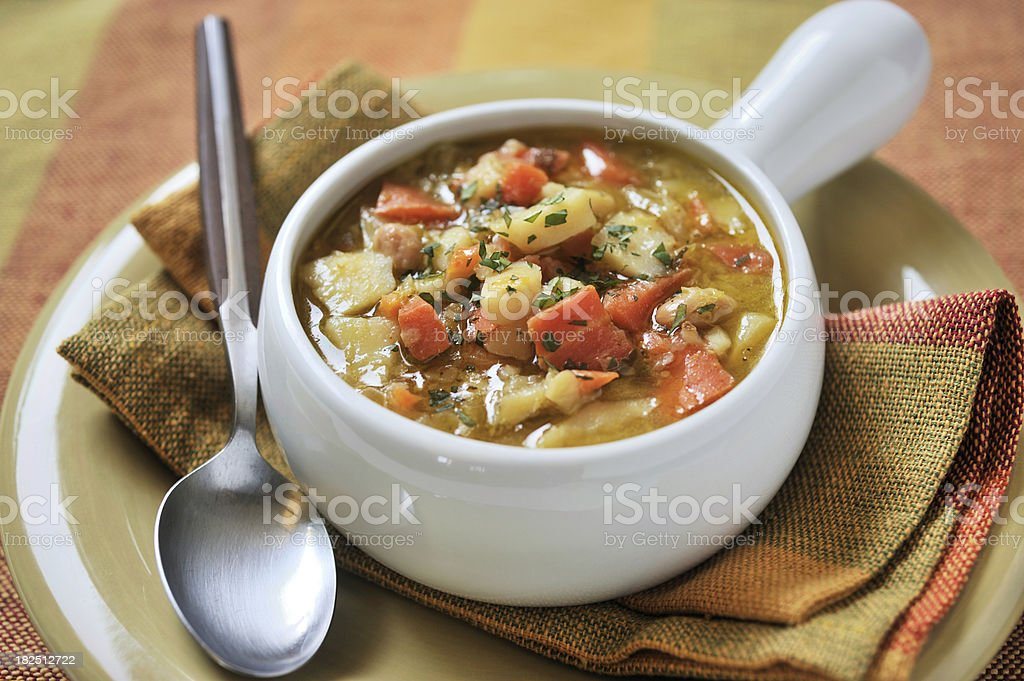 Tigela de sopa de legumes - foto de acervo