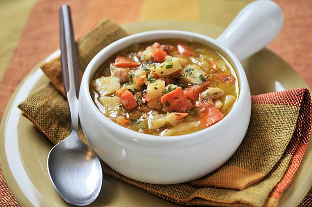 Bowl of Gemüsesuppe – Foto