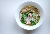 Pho Ga- traditional vietnamese chicken noodle soup.