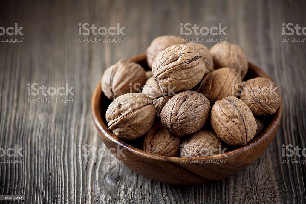 Bowl of walnuts royalty-free stock photo