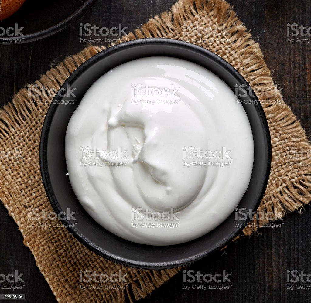 bowl of whipped eggs whites stock photo