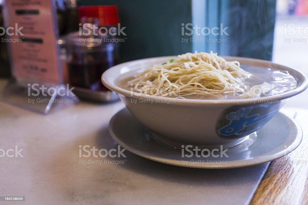 bowl of won-ton soup royalty-free stock photo