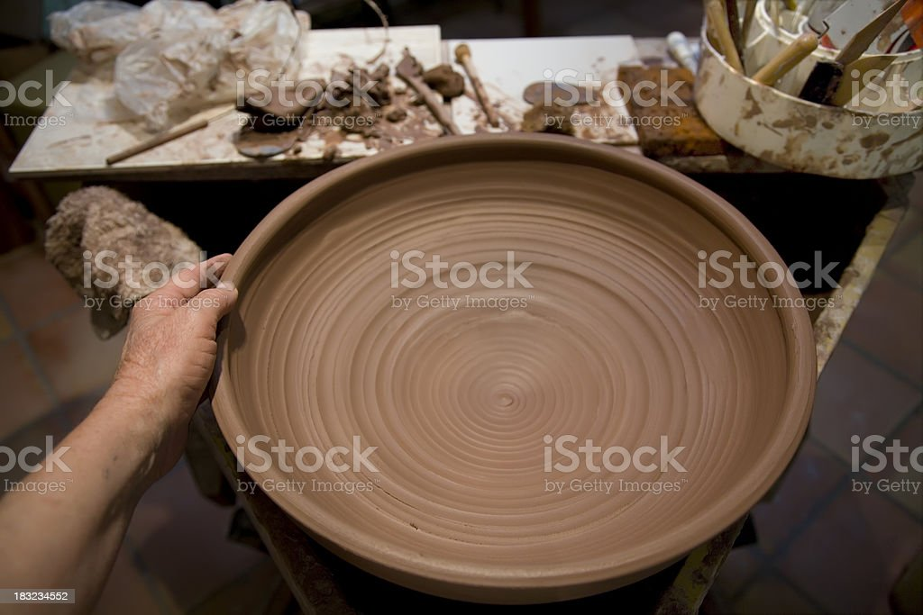 Bowl on Pottery Wheel royalty-free stock photo