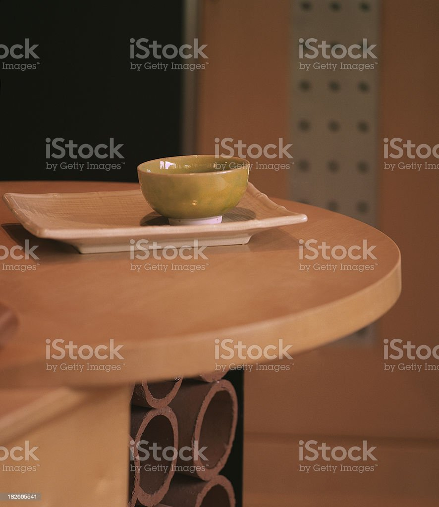 bowl on the table royalty-free stock photo