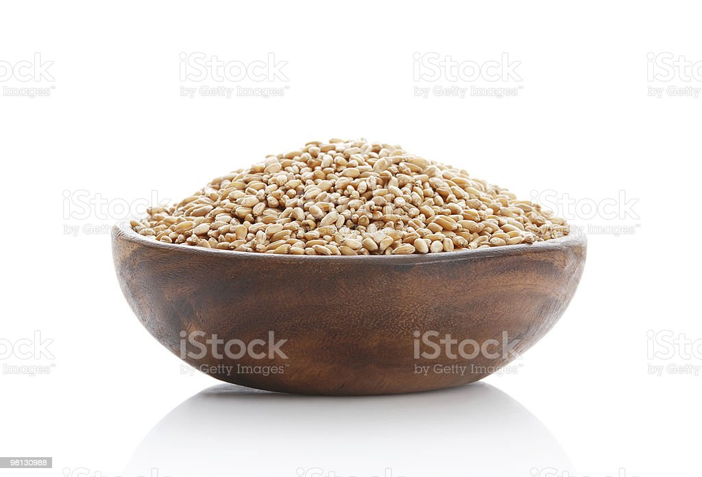Bowl with a grain royalty-free stock photo