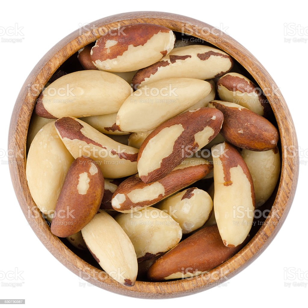 Bowl With Brazil Nuts stock photo