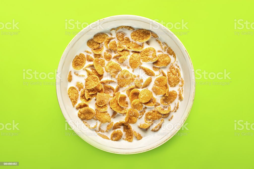 bowl with cornflakes royalty-free stock photo