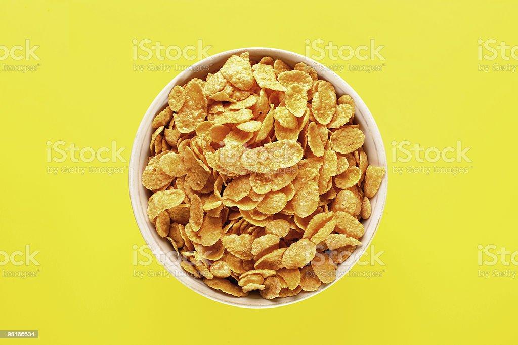 Ciotola con cornflakes foto stock royalty-free