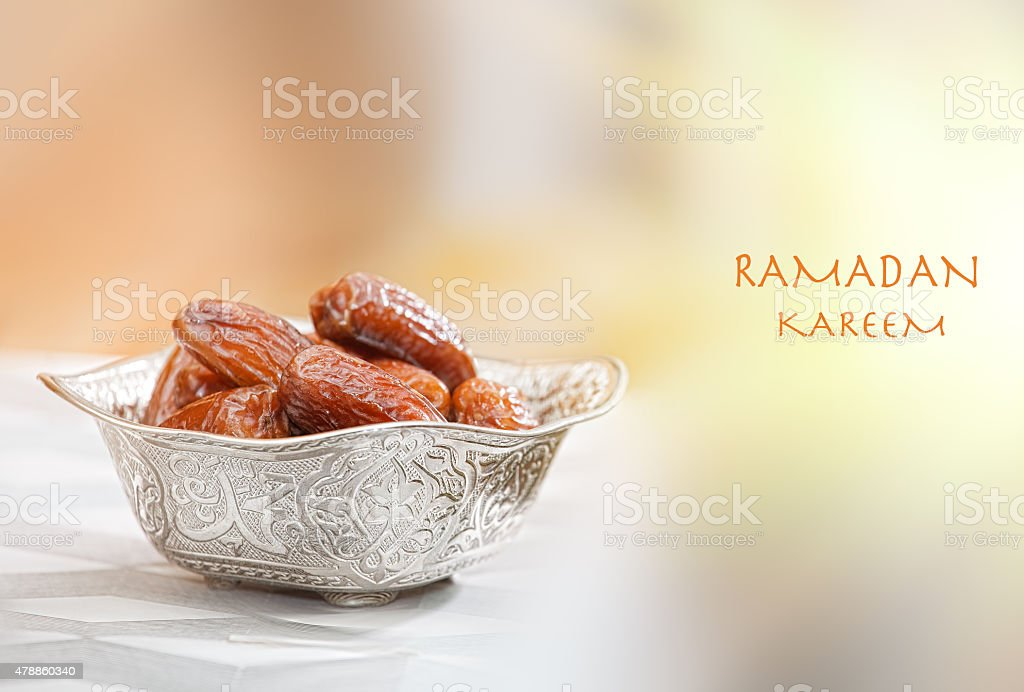 Bowl with dates stock photo