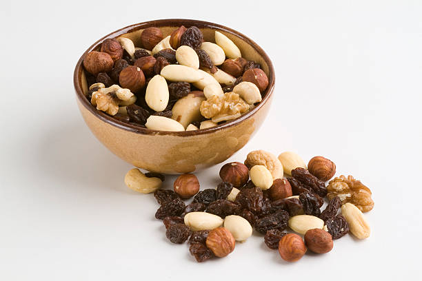 bowl with dry fruits stock photo