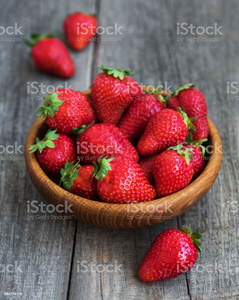 Bowl with fresh strawberries royalty-free stock photo