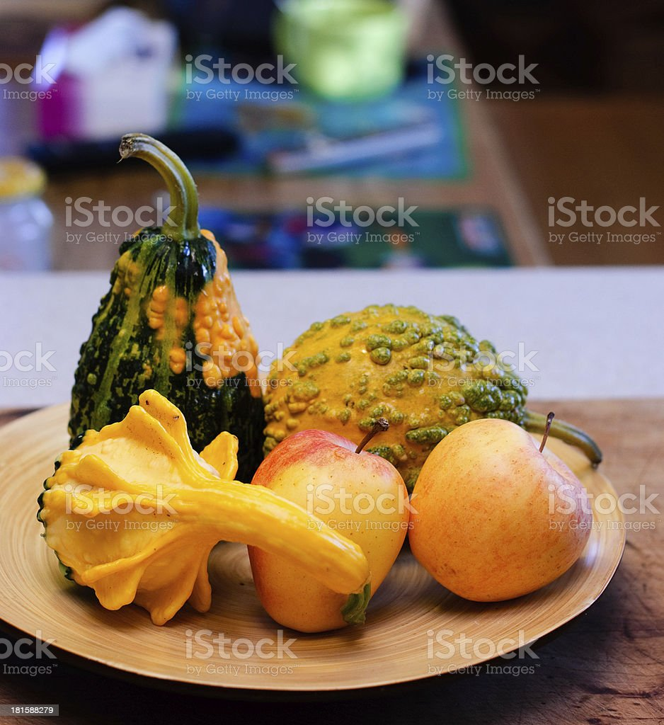 bowl with fruit royalty-free stock photo