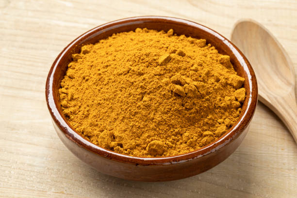 Bowl with Indian masala powder Bowl with traditional Indian masala powder garam masala stock pictures, royalty-free photos & images