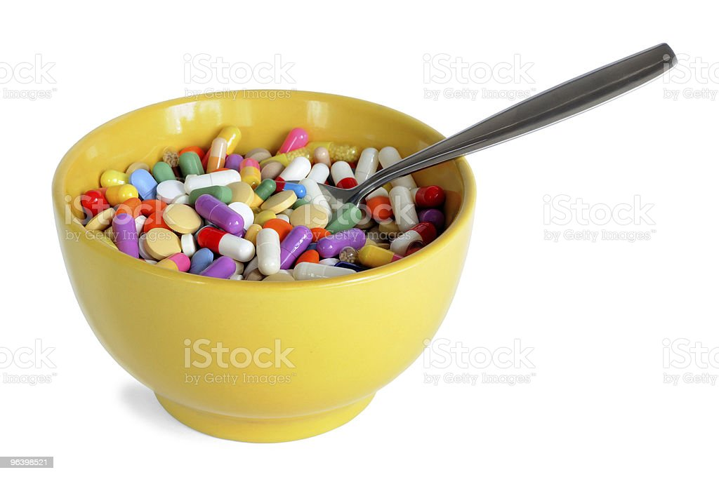 Bowl with Pills - Royalty-free Bowl Stock Photo