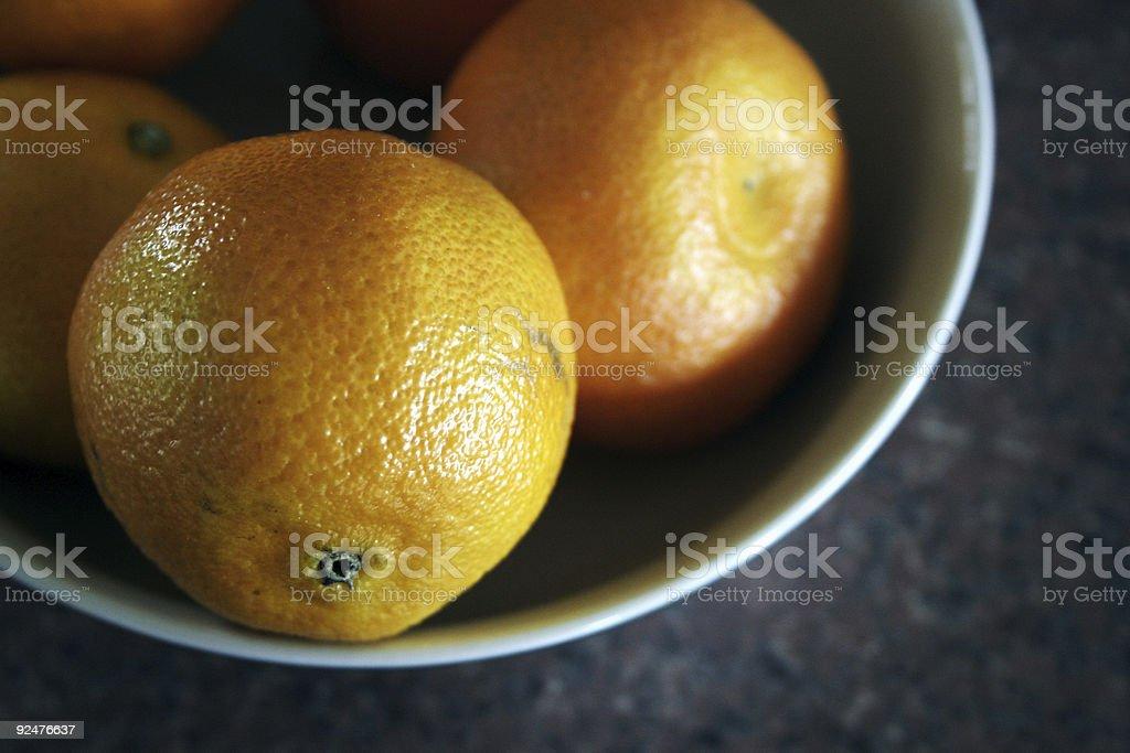 Bowla-oranges royalty-free stock photo
