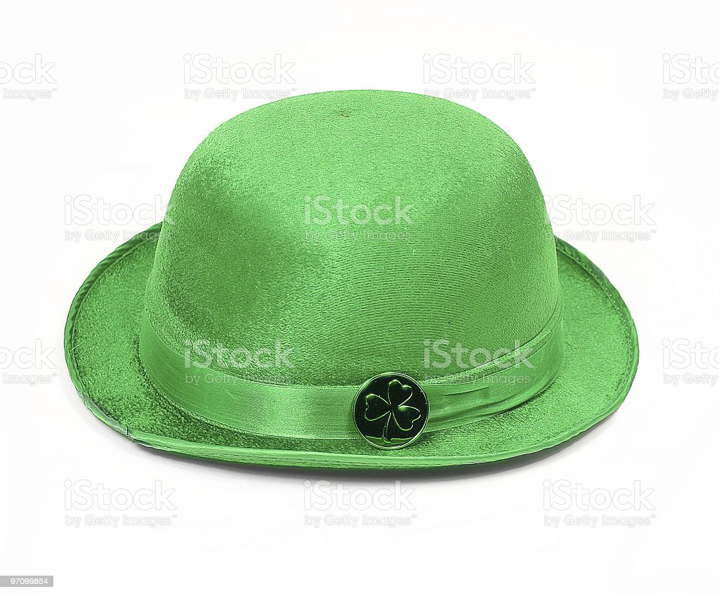 Bowler Green Hat 2 for St. Patrick's Day royalty-free stock photo