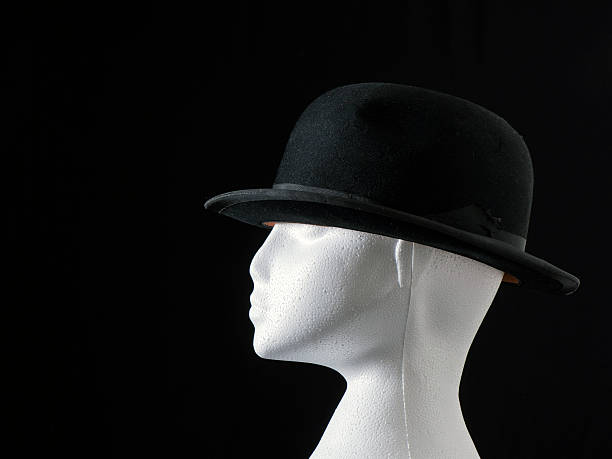 Bowler Hat on Polystyrene Head stock photo