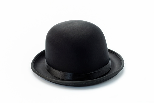 Bowler hat on white stock photo