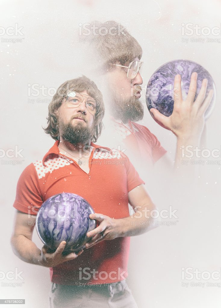 Bowler Man Glamour Shot stock photo