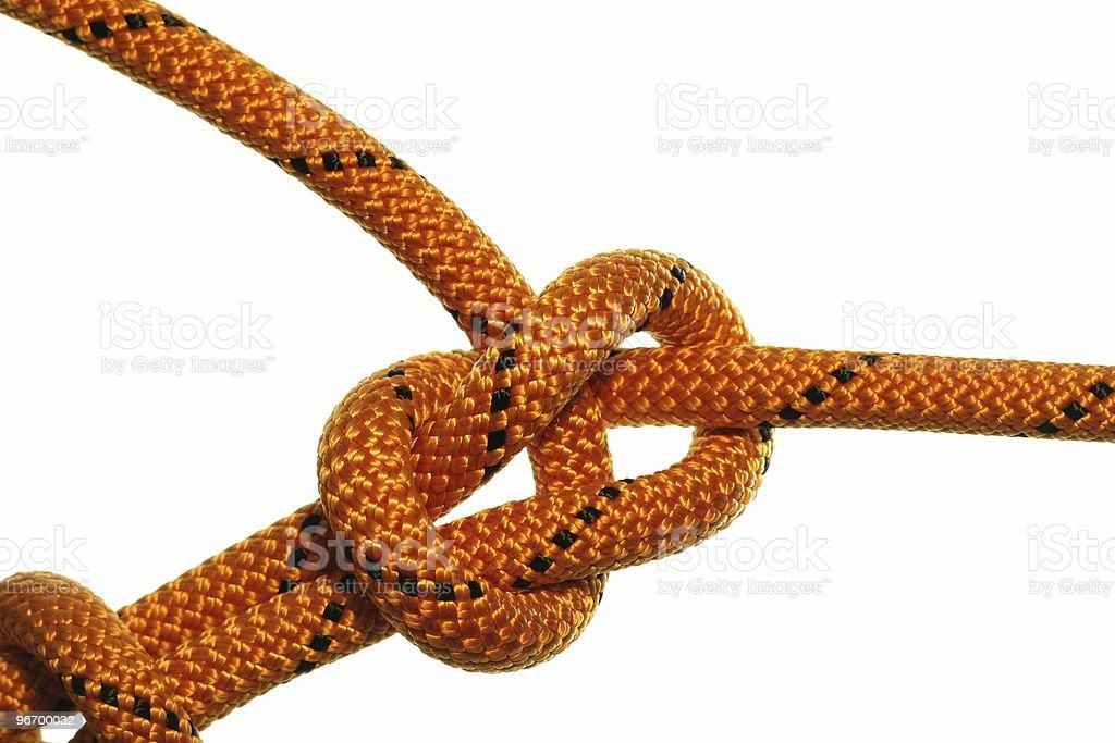 Bowline knot royalty-free stock photo