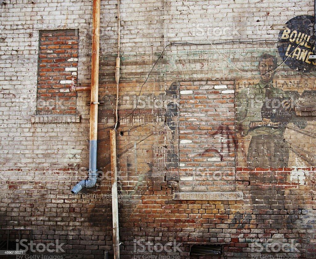 Bowling Alley Art, Old Town Pasadena, California stock photo