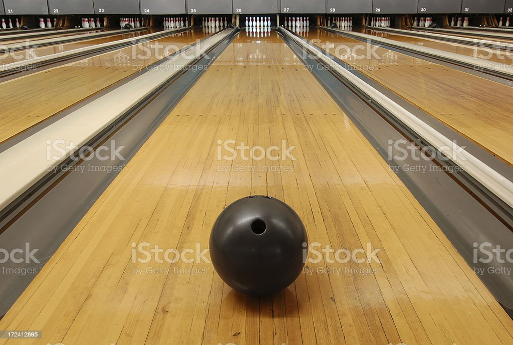 bowling alley stock photo