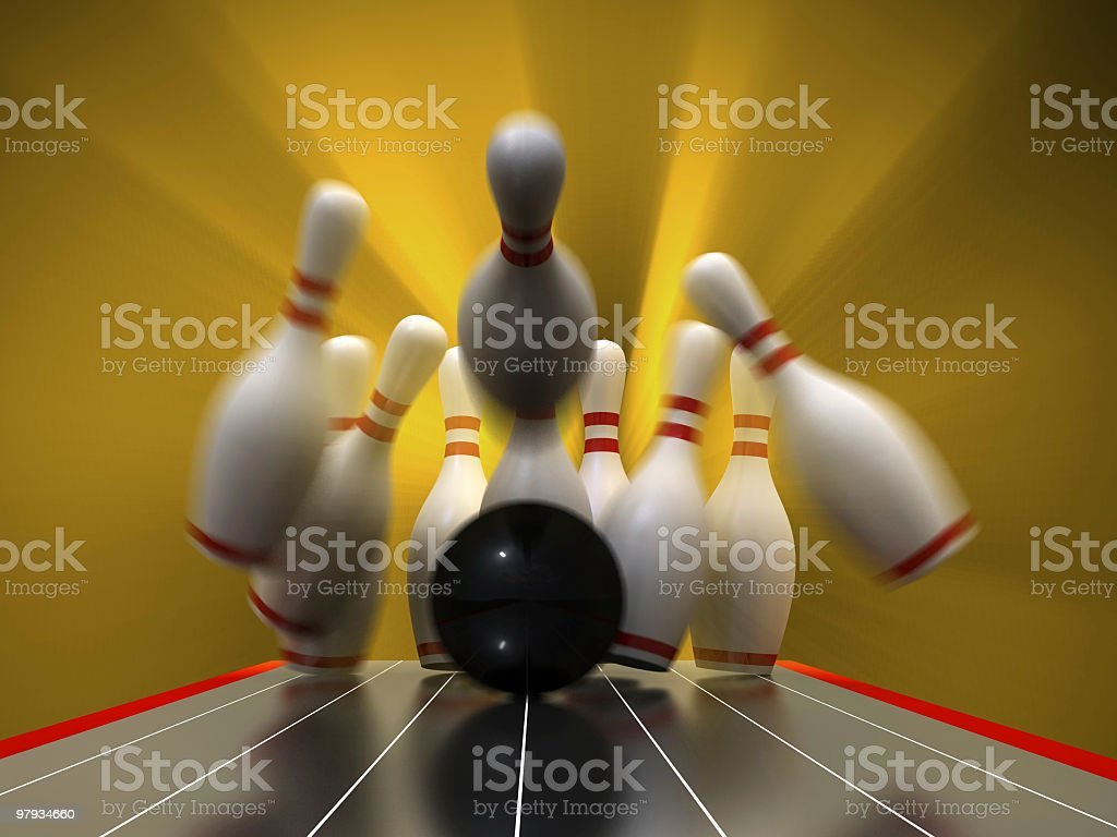 Bowling alley royalty-free stock photo