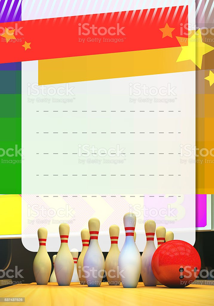 Bowling Sfondo Per Volantini A4 Fotografie Stock E Altre