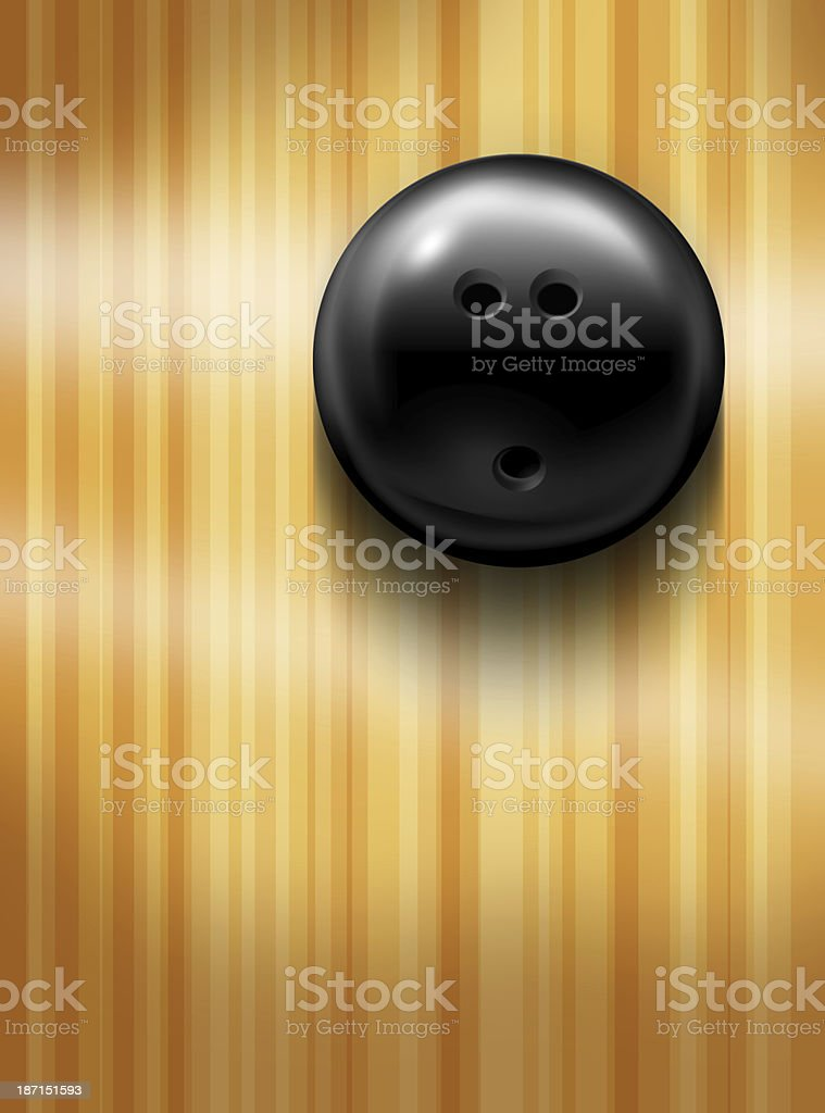 bowling ball above stock photo