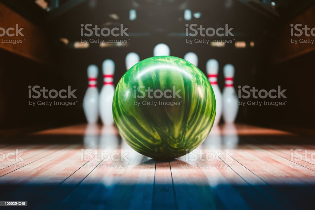bowling ball. competition. stock photo