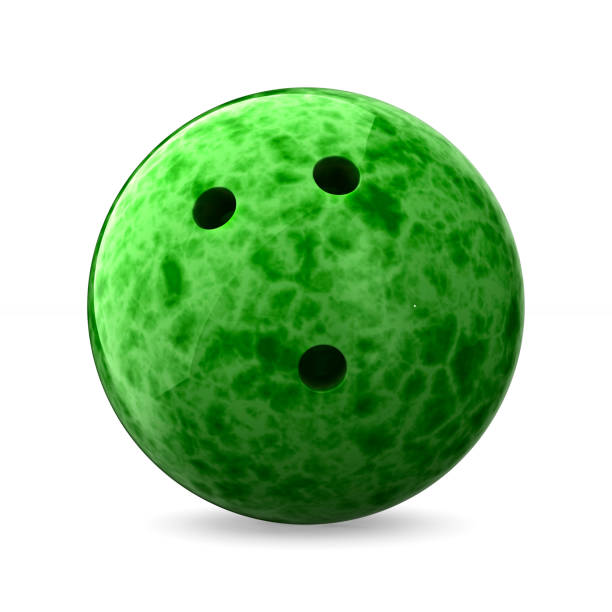 bowling ball on white background. Isolated 3D illustration stock photo
